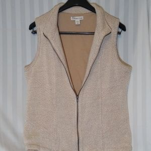 Lined sweater vest